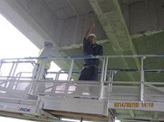 現場見学④橋の下を点検