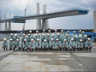 橋梁の工事現場